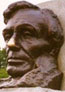 Bust of Lincoln outside the tomb.